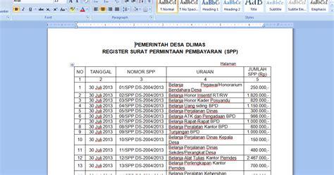 contoh register surat pemintaan pembayaran uchavision
