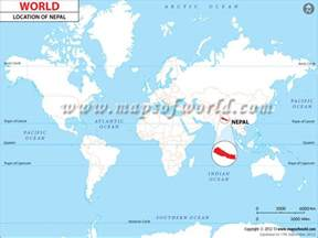 Location Of Nepal In World Map by Where Is Nepal Location Of Nepal