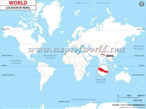 nepal world map where is nepal location of nepal