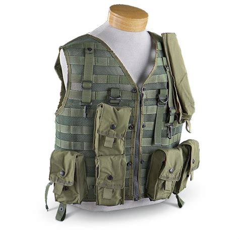 Vest Millitery New U S Survival Vest With Pouches Olive Drab