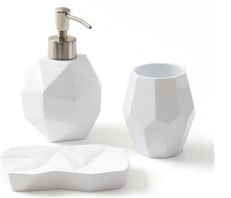 Resin Bathroom Accessories 3 Resin Bath Accessories Set Only 19 99