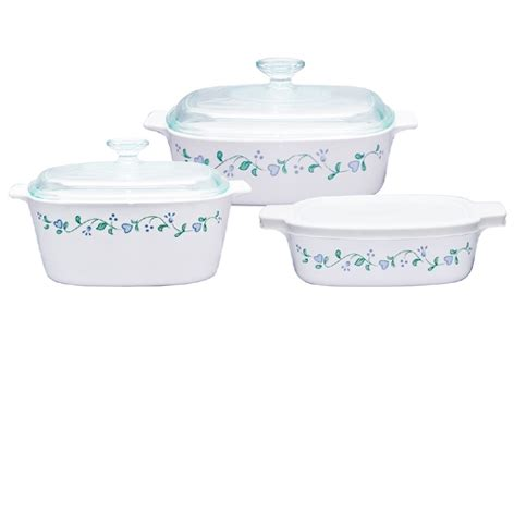 Corningware Country Cottage by Corningware Classic Square 6pc Casserole Set Country Cottage Corningware Country Cottage