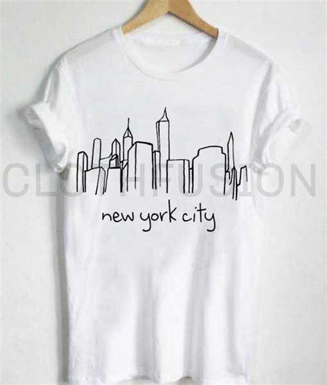 design a t shirt nyc unisex premium new york city skyline t shirt design