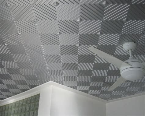 awesome gray silver ceiling tile idea with cool geometric