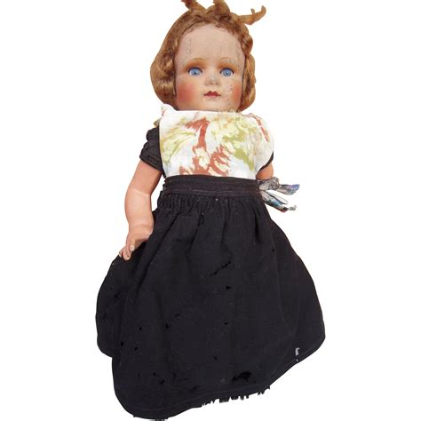 german composition doll 14 quot vintage composition german doll from