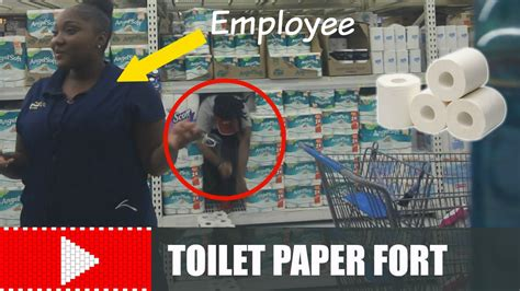 How To Make A Paper Fort - inside a toilet paper fort in walmart