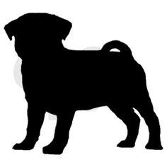 pug stein free pug clip image pug silhouette with the word quot pug quot graphics
