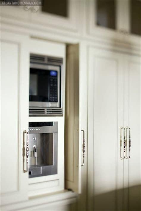 Hideaway Cabinet Doors Great Way To Hide Microwave Etc Inspired Kitchen Pinterest Pocket Doors Sliding Doors