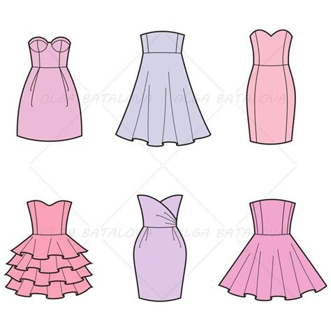 dress template for adobe illustrator women s evening party dress fashion flat templates