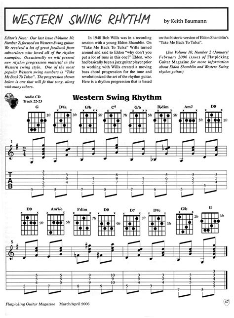 western swing rhythm guitar published articles
