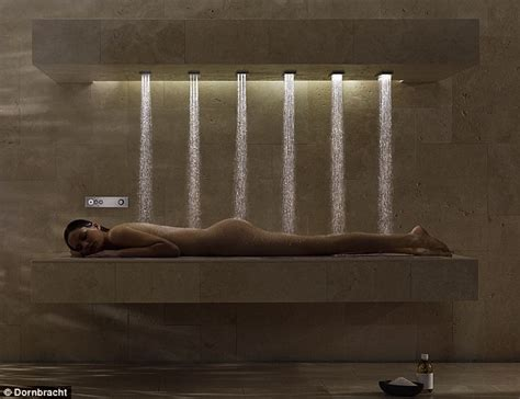 German Shower by Dornbracht Horizontal Shower But Would You Splash Out On