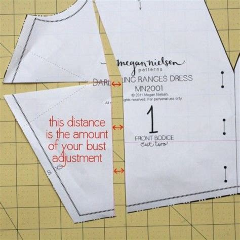 patterns for pirates full bust adjustment how to do a full bust adjustment fba pinterest