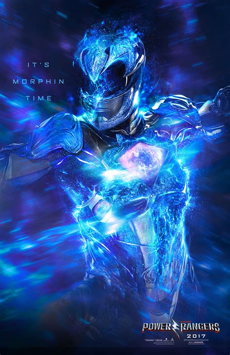 Poster Blue Ranger Hiasan Dinding personal project for the new power rangers character key