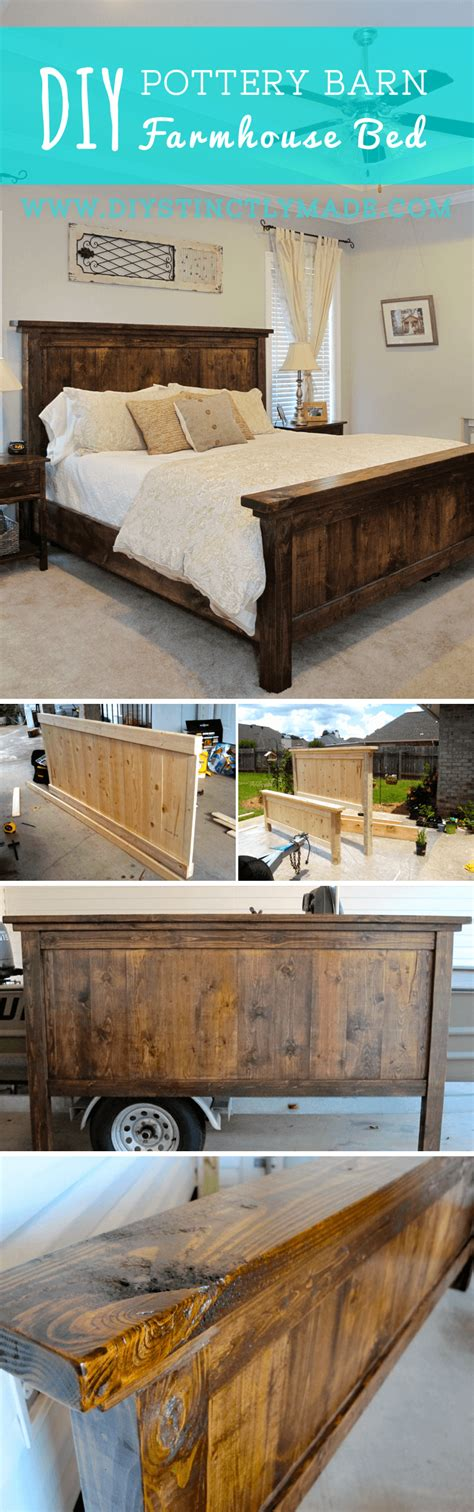 pottery barn farmhouse bed 25 easy diy bed frame projects to upgrade your bedroom homelovr