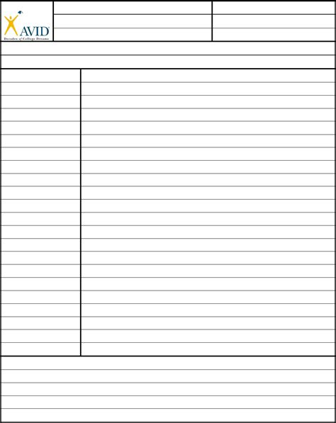 avid cornell notes template cornell notes template avid edit fill sign