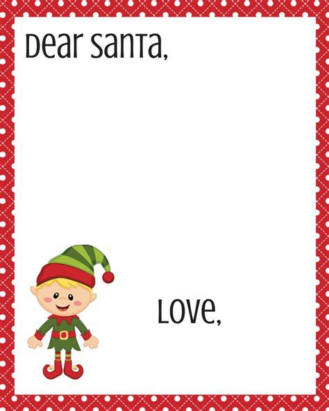 dear santa printables new calendar template site