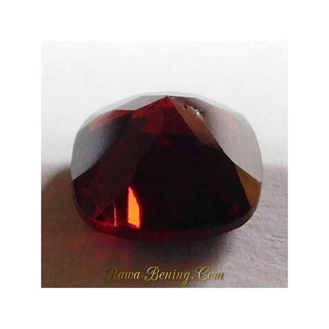 Batu Garnet Merah Kotak jual batu permata almandite garnet cushion cut