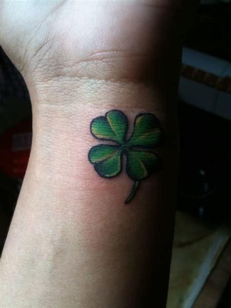 small four leaf clover tattoos 15 shamrock tattoos on wrists