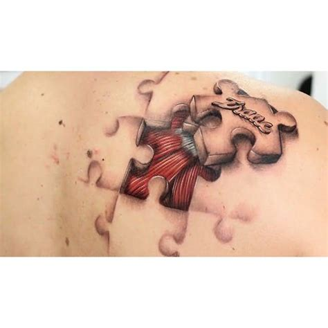 3d puzzle tattoo 3d puzzle tattoos and photo ideas page 7