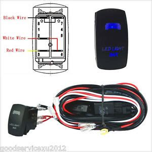 Car 12v Wiring Harness Blue Led Light Bar Laser Rocker