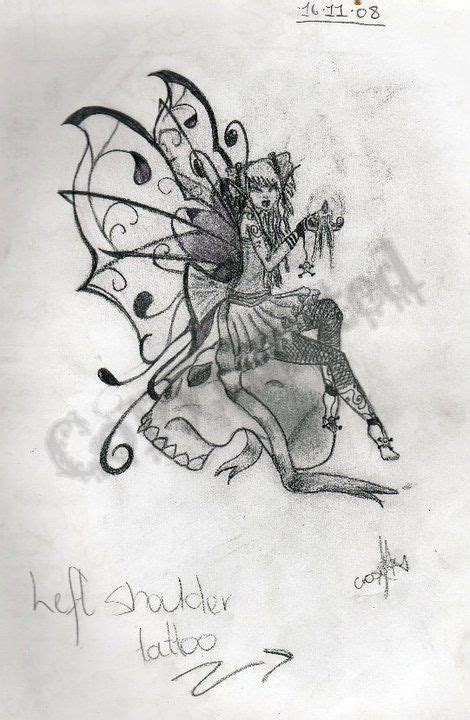 gothic fairy tattoos designs design