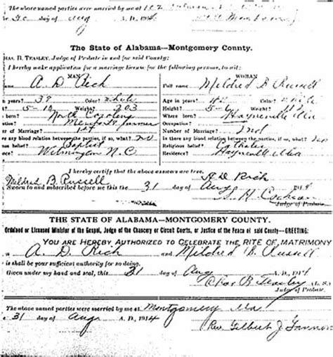 Montgomery Marriage Records Montgomery County Marriage License Records