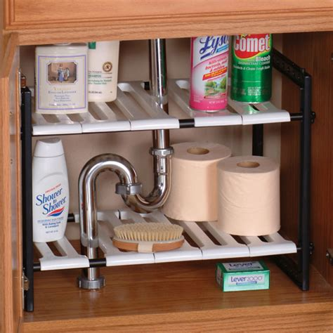 under kitchen sink storage under sink expandable shelf under the sink storage walter drake