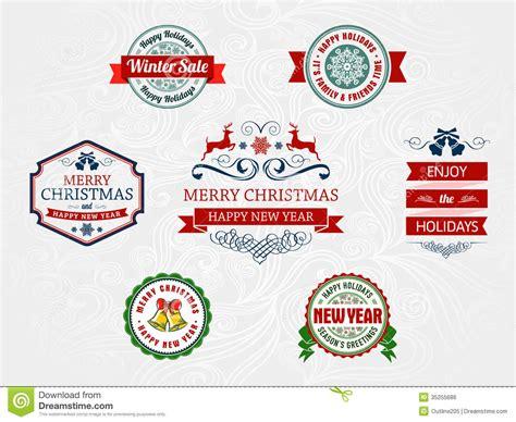 christmas themed logos christmas and holiday badges stock vector image 35255686