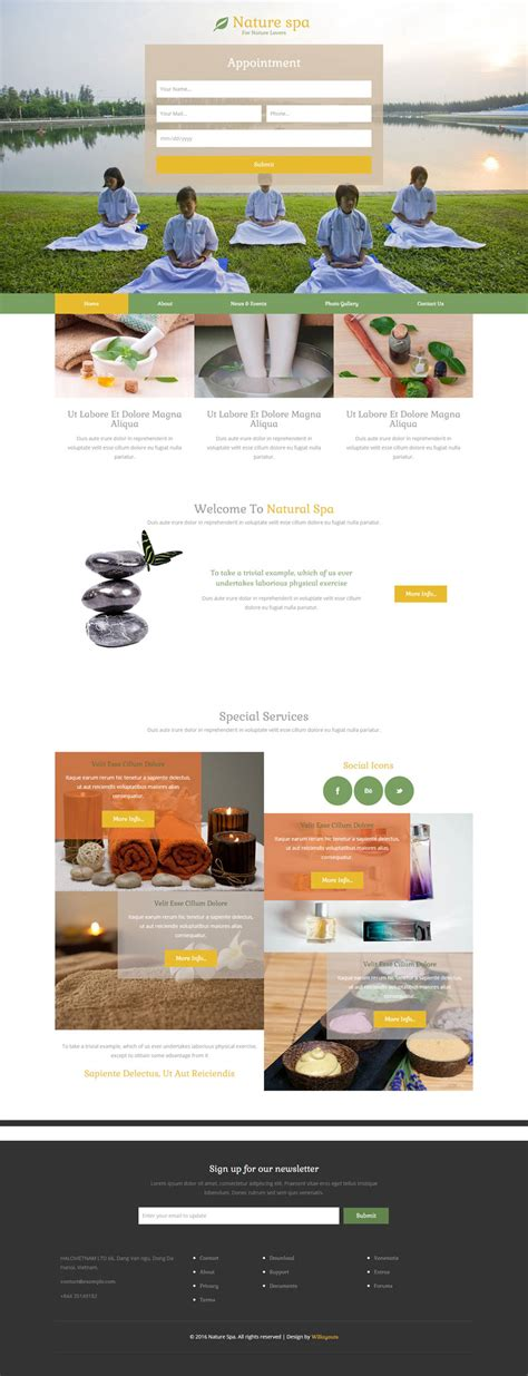 Nature Spa A Spa Category Flat Bootstrap Responsive Web Template Spa Responsive Website Template Free