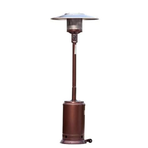 46000 Btu Patio Heater Sense 46 000 Btu Hammered Bronze Propane Gas Patio Heater 60485 The Home Depot