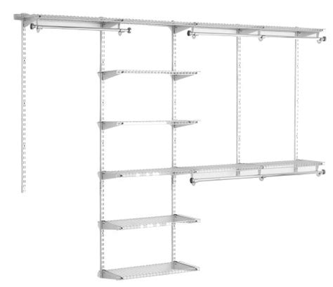 4 Foot Closet Organizer by Rubbermaid Configurations 4 To 8 Foot Deluxe Custom Closet