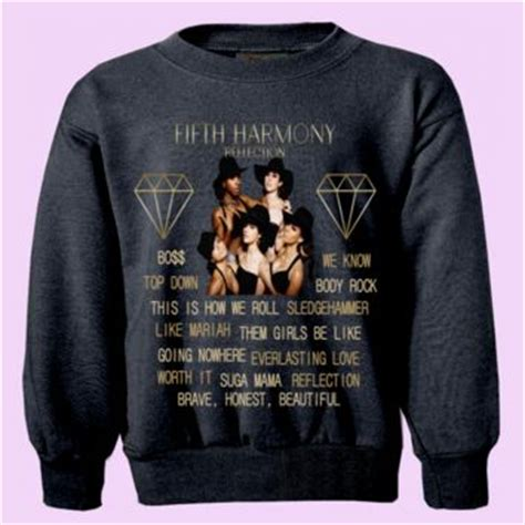 Sweater Yellow Claw Never Dies Harmony Merch fifth harmony quot reflection quot album from crewwear