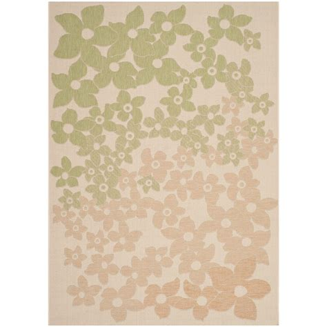 Martha Stewart Indoor Outdoor Rugs Safavieh Martha Stewart Beige Sweet Pea 4 Ft X 5 Ft 7 In Indoor Outdoor Area Rug Msr4246 218