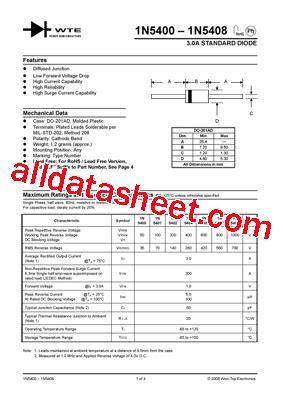 1n5408 데이터시트 pdf won top electronics