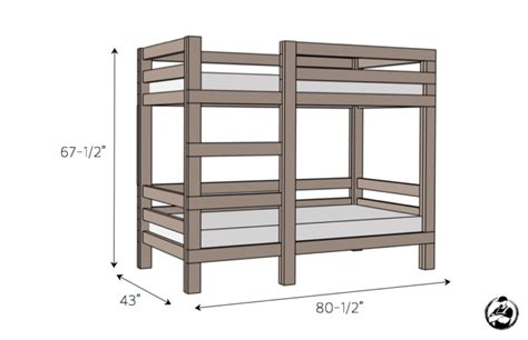 Simple Bunk Bed Plans by 2x4 Bunk Bed 187 Rogue Engineer