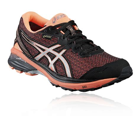 asics waterproof running shoes asics gt 1000 5 womens orange black support tex