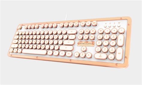 A Vintage Keyboard by Azio Luxury Leather Vintage Keyboard Cool Material