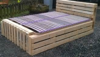 Diy Platform Bed With Pallets by Recycled Pallet Bed Frame Projects Recycled Things