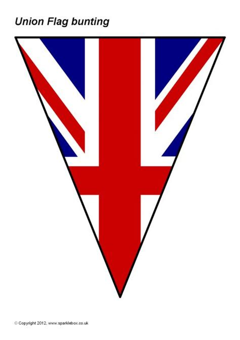 template of union bunting union flag bunting sb8117 sparklebox