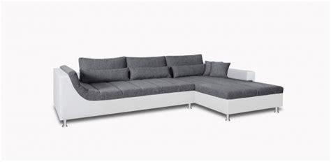 couchgarnitur ottomane wohnlandschaft in grau wei 223 g 252 nstig kaufen yatego