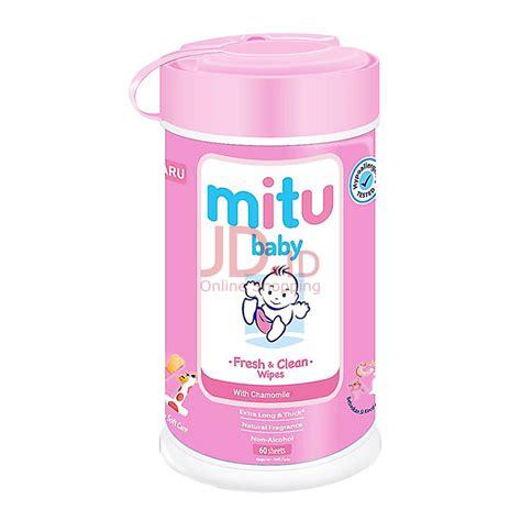 Tissue Basah Mitu Baby With Chamomile Vit E Fresh Clean Wipes 40s jual mitu baby wipes bottle 60s pink jd id