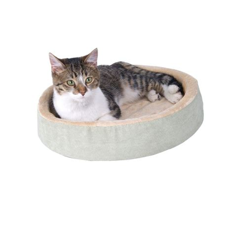 k h thermo kitty heated cat bed k h pet products thermo kitty cuddle up small sage heated