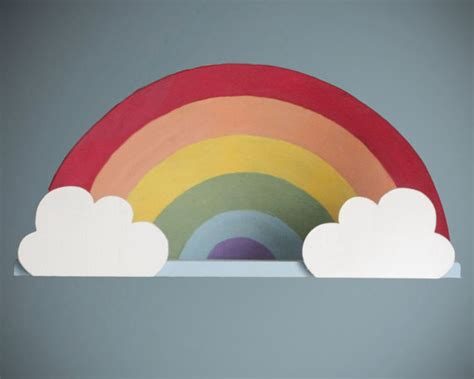 rainbow wall shelf