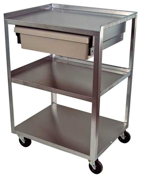 Stainless Steel Cart With Drawer by Cart Stainless Steel With Economy Drawer 16 Quot X 21