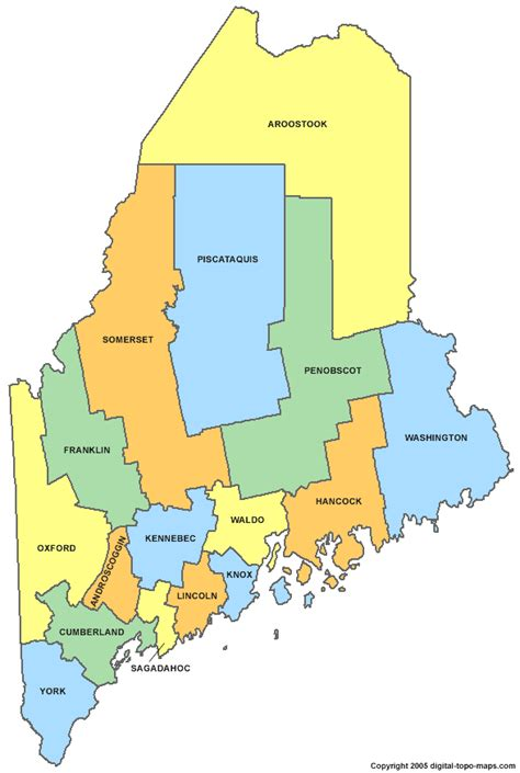 map county maine county map me counties map of maine