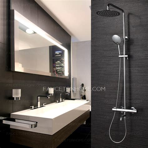 High End Bathroom Showers High End Thermostatic Exposed Outdoor Shower Faucet System