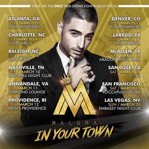 maluma concierto diciembre 2016 argentina maluma en su exitosa gira quot in your town quot por los estados