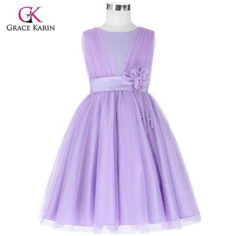 Dress Pricill Kid Purple tulle gown flower dresses for wedding