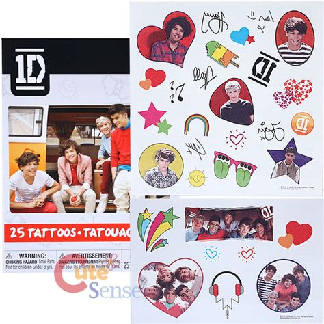 one direction temporary tattoos one direction sticker and tattoos 50pc set 1d harry niall