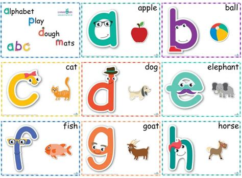 Letter Playdough Mats by Printable Alphabet Play Dough Mats Learning 4